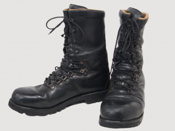 Austrian army leather combat boots