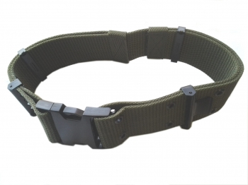 Quick release buckle olive pistol belt