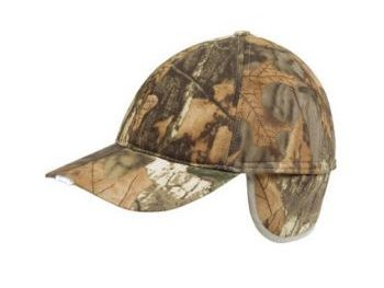 Camo wildfowlers cap with LEDs