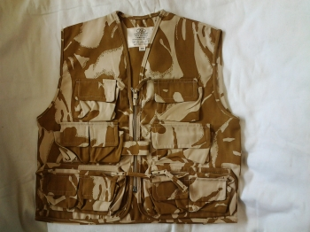 Kid's desert camo action vest